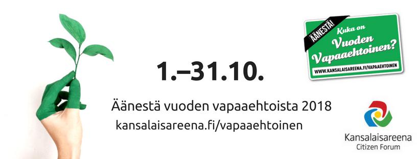 Henri Hämäläinen Vuoden vapaaehtoiseksi