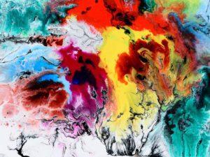 värikäs abstrakti taide