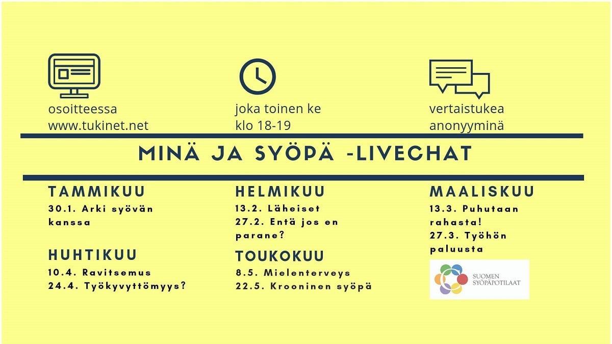 tukinet livechat kevät 2019 ohjelma