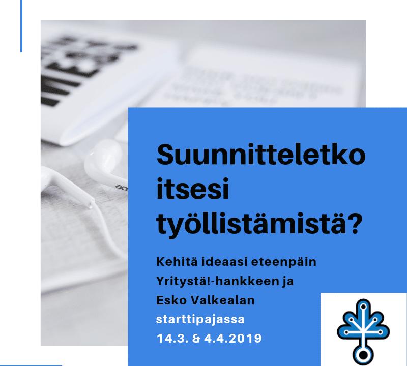 [Helsinki] Starttipaja itsensä työllistämistä suunnitteleville