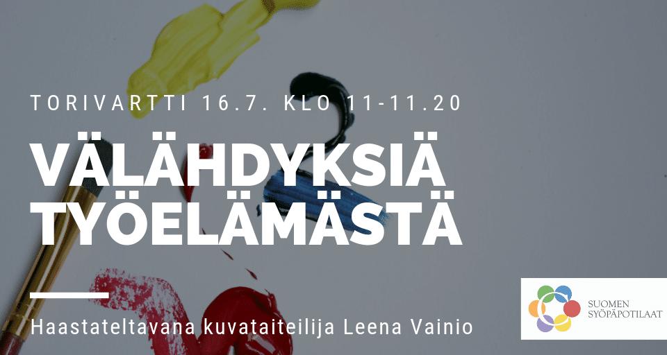 [Pori] Välähdyksiä työelämästä -torivartti SuomiAreenan Kansalaistorilla