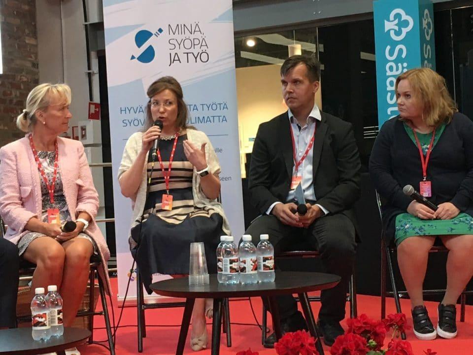 Syövästä ja työstä Porin SuomiAreenalla
