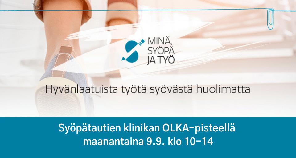 [Helsinki] Minä, syöpä ja työ Syöpätautien Klinikan OLKA-pisteellä