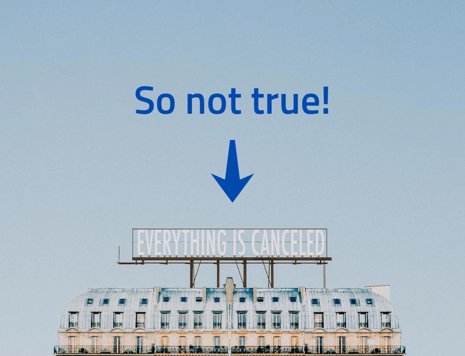 so not true everything is canceled sign talon päällä