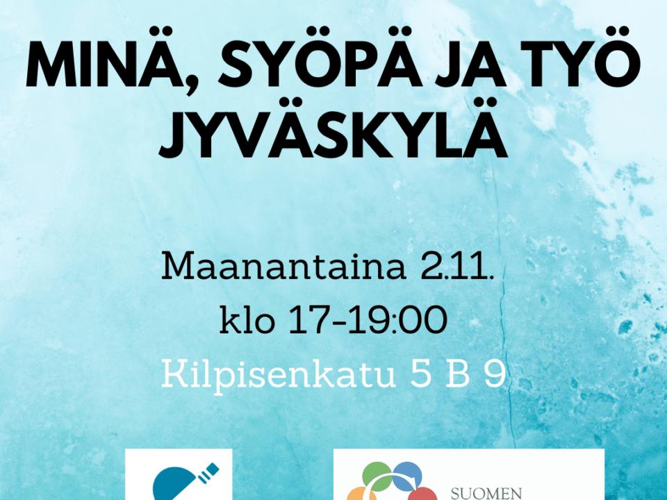 [Etänä]  Jyväskylän Minä, syöpä ja työ -ilta